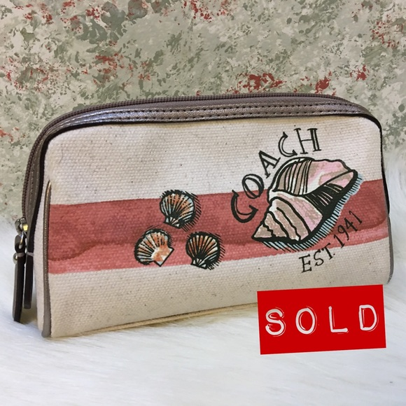 Coach Handbags - SOLD! COACH Resort Collection SEASHELL M/U Bag